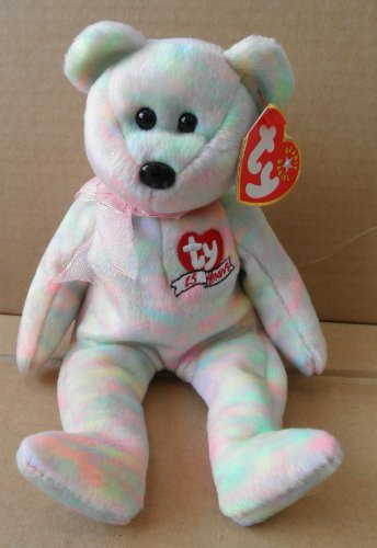 TY Beanie Babies Celebrate Bear Stuffed Animal Plush Toy - 15th Anniversary - 8 1/2 inches tall - Multi-Color with TY 15 Years on Chest
