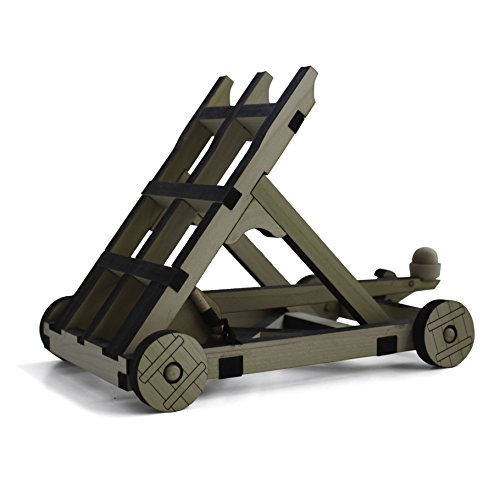 Catapult Kit - Build Your Own Wooden Mini Medieval Warfare Kit - With 18 Foot Range