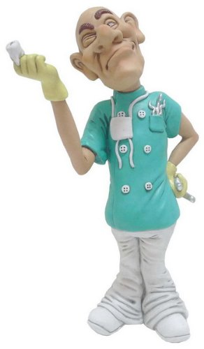 Hi Line Gift Warren Stratford Occupations Collectible Figurine, 9.5-Inch, Dentist
