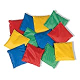 Educational Products - Dozen 5 Assorted Nylon Reinforced Bean Bags [Toy] - 1 DOZEN, 5 bean bags.