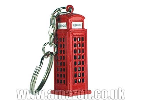 Londra Negozio di souvenir / regali Corpo in metallo pressofuso Portachiavi - 3D Box Telefono Rosso