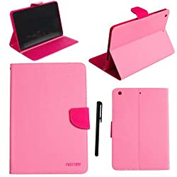 IMZ (TM) iPad Air Case (Pink / Rose Red) - Magnetic Hybird Colors Fashion Design Pu Leather Flip Stand Soft TPU Case Cover for iPad Air / iPad 5 ( 5th Generation ) + [ 1 Free Stylus ]