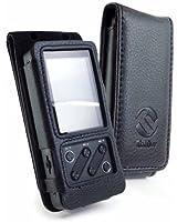 Tuff-Luv Étui housse en similicuir avec clip pour ceinture pour FiiO X3 MP3 - Noir