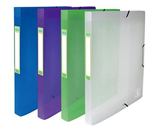 Elba 4000594712nd Life scatola portaprogetti, PP, trasparente, 24x 32x 25mm, colori assortiti