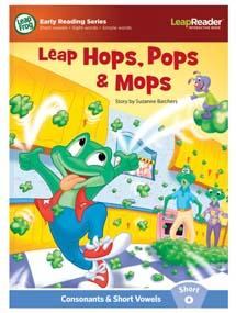 """Leap Hops, Pops & Mops"" features short vowel ""o"" sound."