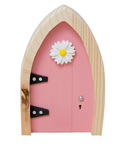 The irish fairy door company pink arched door includes for Fairy door with key