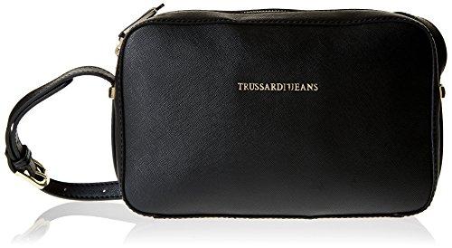 Trussardi Jeans Levanto Borsa a Tracolla, 25 cm, Nero