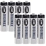 Digimax Industrial AAA Rechargeable Batteries 750 mAh x 8 -- 8 BATTERIES IN TOTAL !by Unknown
