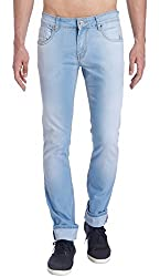 Erdferkel&Wobbegong Men's Jeans (HYDRA04--38, Blue, 38)