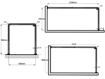alu universal winkelstange 3er chrom matt extra dick 28mm. Black Bedroom Furniture Sets. Home Design Ideas
