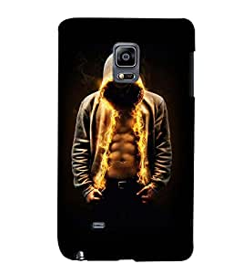 PrintVisa Cool Boy Fire 3D Hard Polycarbonate Designer Back Case Cover for Samsung Galaxy Note Edge