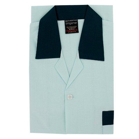 Men's Nightshirt- Button Through Pale Green