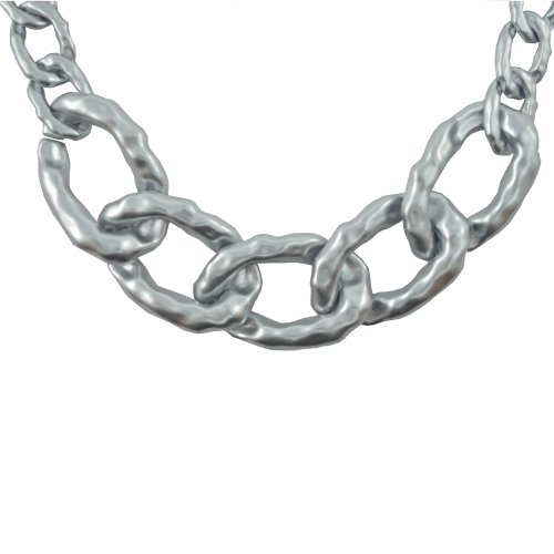 """DIOVANNI """"Silver Chain Reaction"""" Celebrity Inspired Statement Necklace"""