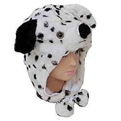 LightYear Plush Animal Dog Dalmatians Baby Lady Kids Costume Winter Hat Beanie
