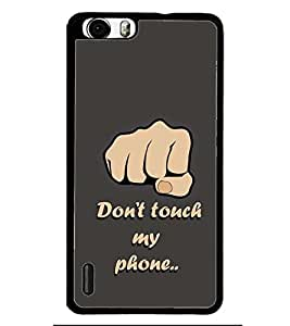 PRINTSWAG PUNCH TEXT Designer Back Cover Case for HUAWEI HONOR 6