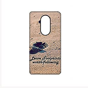 Vibhar printed case back cover for Moto X Play LeaveFootprints