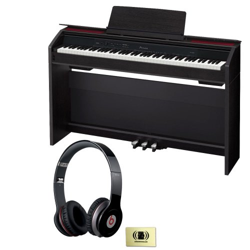 Casio Privia Px-850 88-Key Digital Piano Bundle With Beats By Dr. Dre Solo Hd On-Ear Headphones (Black) And Custom Designed Zorro Sounds Instrument Cloth