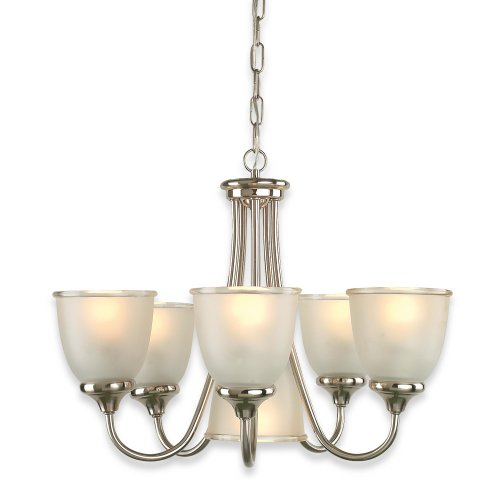 Superb Royce Lighting BLE Easton Six Light Chandelier Two Tone Nickel with Clear Edge