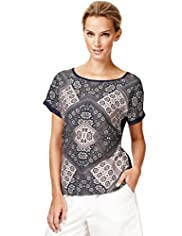 Autograph Tile Print Top