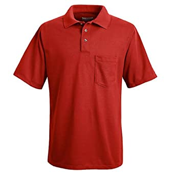 Buy Red Kap SK02 Mens SS Performance Knit Solid Shirt by Red Kap