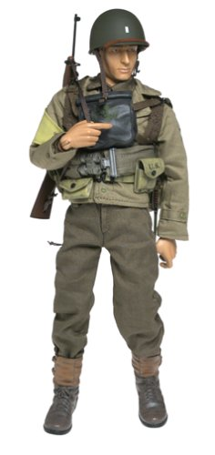 "Buy Low Price Blue Box Elite Force: WWII U.S. Army First Infantry Division Lieutenant ""Chuck Hayes"" 12″ Military Action Figure (B0000CDZC5)"