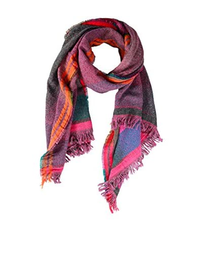 Saachi Women's Patterned Scarf, Pink/Multi