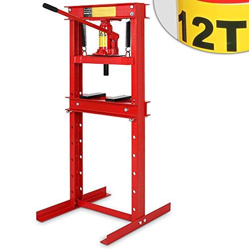 Werkstattpresse-Lagerpresse-inkl-Hydraulikpumpe-und-2x-Druckplatten-Hydraulikpresse-Dornpresse-max-12T