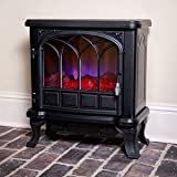 Duraflame Medium Black Electric Fireplace Stove with Remote Control - DFS-550-20