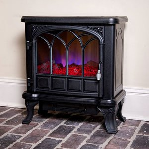 Duraflame Medium Black Electric Fireplace Stove with Remote Control - DFS-550-20 picture B00GMX4NXY.jpg