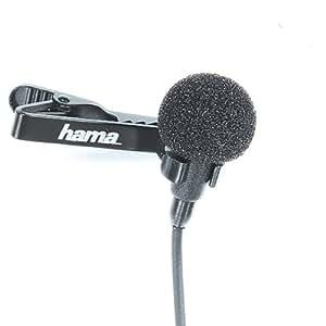 Hama LM-09 Clip-On Omnidirectional Microphone - Black