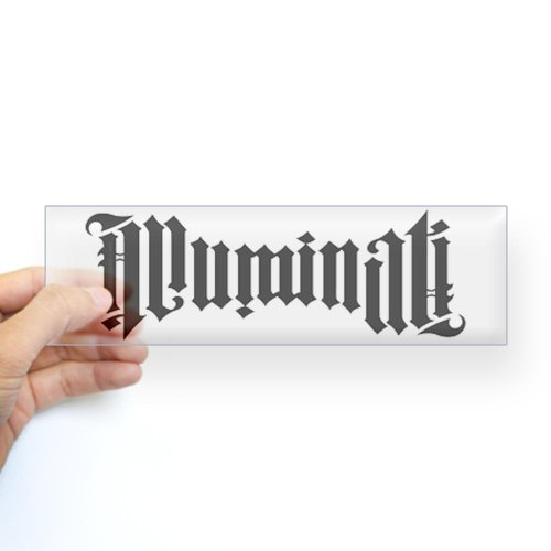 Illuminati Ambigram Bumper Sticker Sticker Bumper by CafePress – Clear
