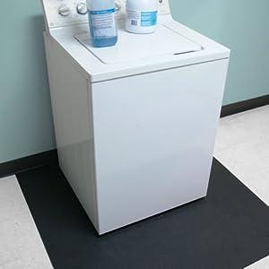 Rubber cal anti vibration washing machine mat 3 8 x 4ft for Floor washing machine