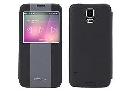 Rock Side Flip Case For Samsung Galaxy S5 Black
