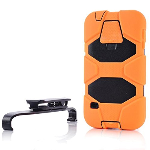 Sudmand High Quality Full Protection Case/Cover For Samsung Galaxy S5, Pc+ Silica Gel With Removable Stand Case For Samsung Galaxy S5, Samsung I9600 (Orange)