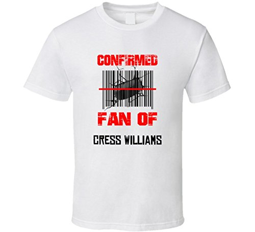 Cress Williams NHL Scanned Barcode Fan T shirt M White