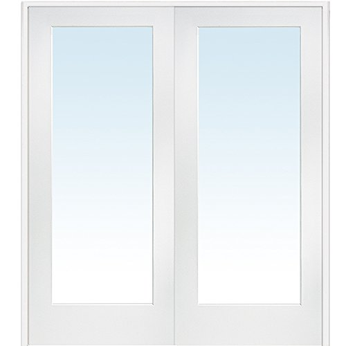 National door company z009301ba primed mdf 1 lite clear for 1 lite clear glass pine primed white prehung interior door