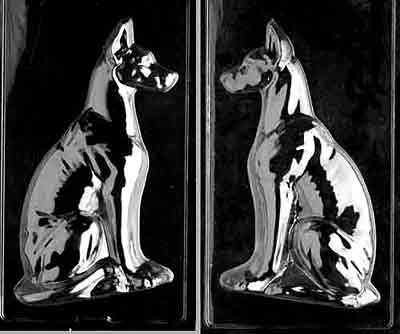 Dog GREAT DANE Large Chocolate Candy or Soap 2 Mold Set