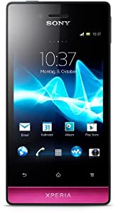 Sony Xperia miro Smartphone (8,9 cm (3,5 Zoll) Touchscreen, 5 Megapixel Kamera, Android 4.0) schwarz/pink