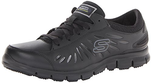 Skechers for Work Women's Eldred Work Shoe, Black, 8 M US (Work Shoes For Women compare prices)