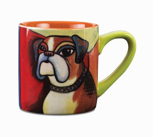 Paw Palettes Boxer Pawcasso Ceramic Mug, 16-Ounce