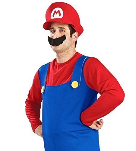 Super Mario Brathers Style Costume [ Mario M Size ] Game Character