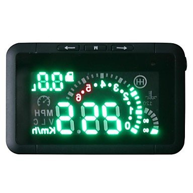 Commoon Led Car Hud Head Up Display With Obd2 Interface Plug & Play Speeding Warn System W01