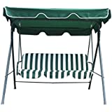Water Resistant Swinging 3 Seater Garden Hammock Swing Seat Outdoor Bench Chair Patio Set