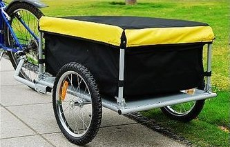 KMS Folded Luggage Utility Cargo Bike Trailer 140 Litre Volume