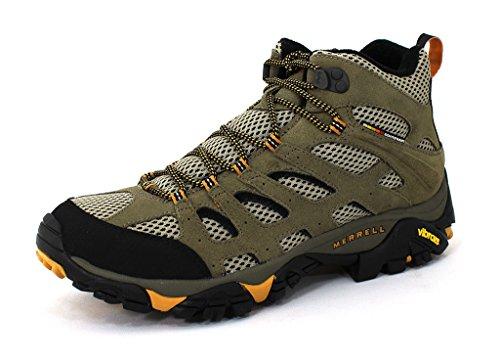 Merrell Men's Moab Ventilator Mid Hiking Boots (10.5, Walnut) (Merrell Moab Mid Ventilator compare prices)