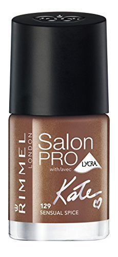 Rimmel London Salon Pro Nail Polish Shade Number 129, Sensual Spice/Nude Collection by Rimmel