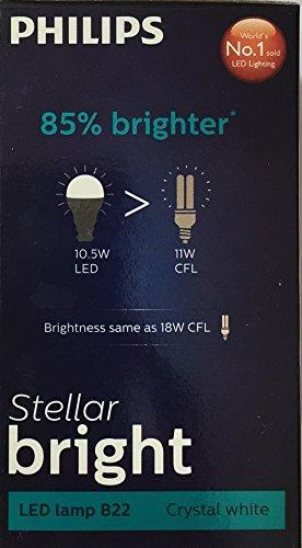 Steller-Bright-10.5-W-B22-6500K-LED-Bulb-(Cool-Day-Light,-Pack-of-2)