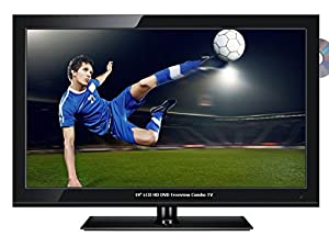 Techwood 19884HDDVD 19-Inch LCD 720 pixels 50Hz TV with DVD Player