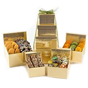Rosh Hashanah Happy New Year 4-tier Classic Tower Nut & Candy Gift - Oh! Nuts