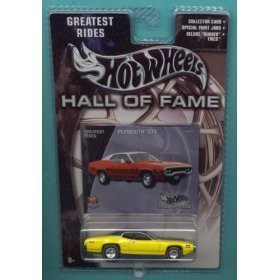 Mattel Hot Wheels 2002 Hall of Fame Greatest Rides 1:64 Scale 35th Anniversary Yellow Plymouth GTX Die Cast Car - 1